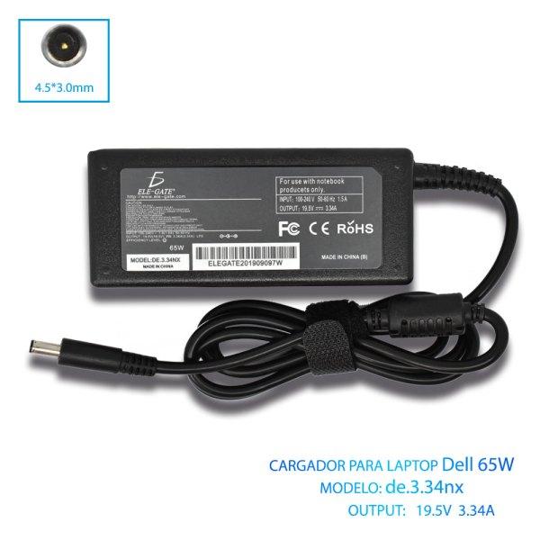 Cargador Laptop Dell Punta Delgada 65w 19.5v 3.34a 4.5*3.0mm