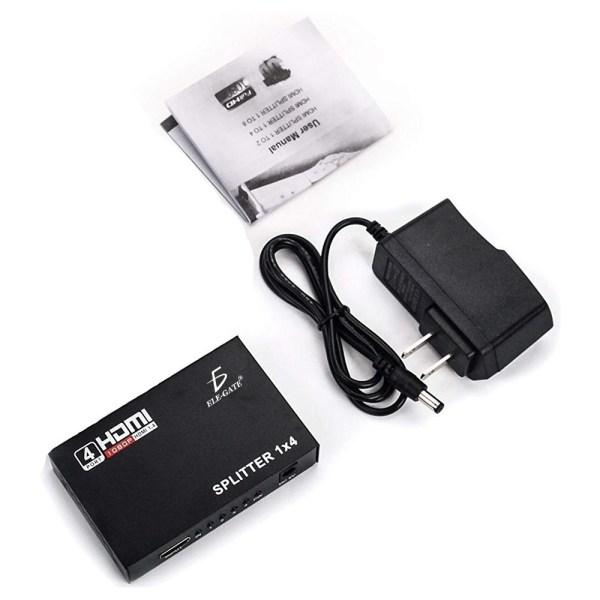 Splitter Hdmi 1x4 1080P Divisor Señal Amplificador Tv Monitor