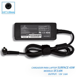 Cargador Laptop Asus 19V 2.37a 45W 4.0*1.35mm