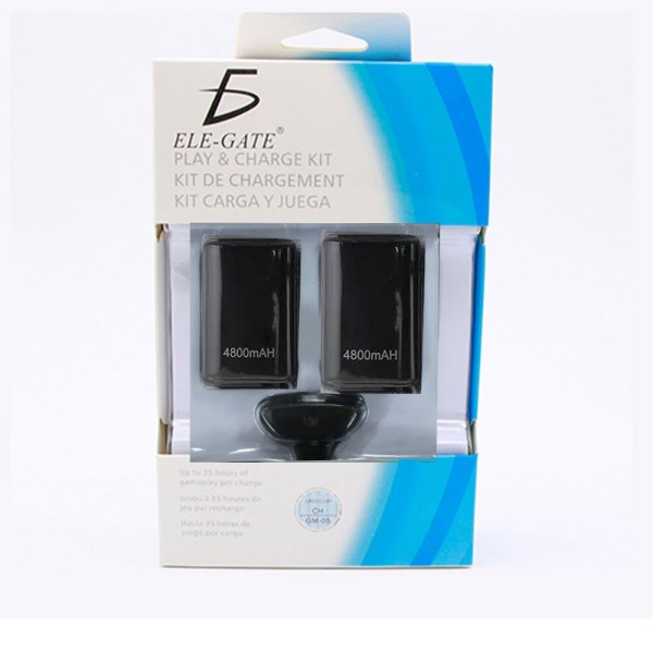 Kit Bateria Cargador Cable Carga Y Juega 360 2 Bateria