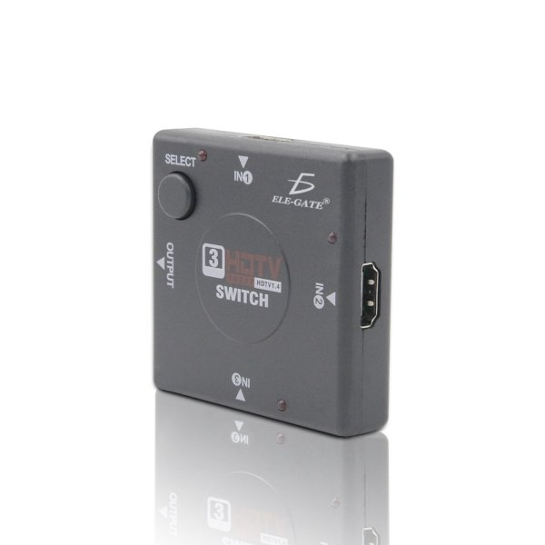 Switch Selector De 3 Puertos Hdtv Hdmi Full Hd 1080p