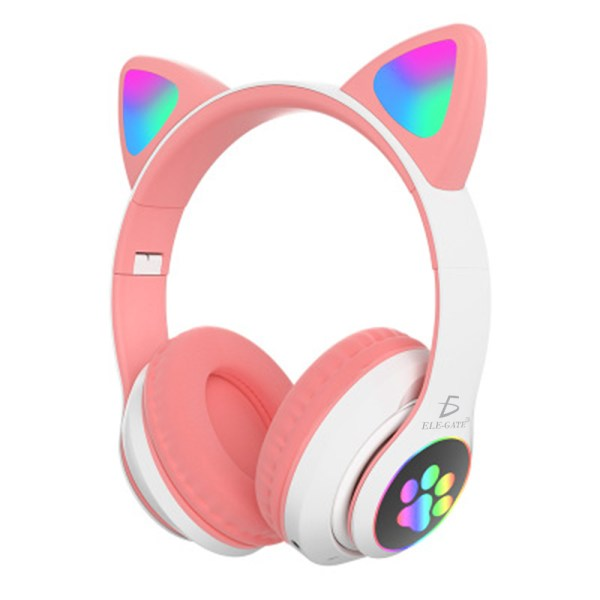 Diadema Gato Bluetooth Auriculares Colorido Led Luminoso