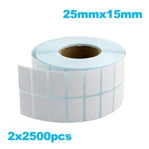 Paper de Etiqueta Termica 25mmx15mm 5000PZAS