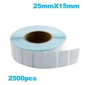 Paper de Etiqueta Termica 25mmx15mm 2500PZAS