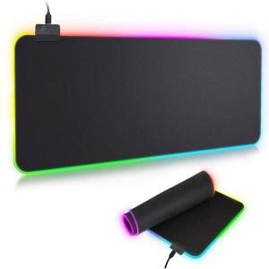 Mouse Pad Gamer Con Luz Led RGB Iluminado 90x40 mm