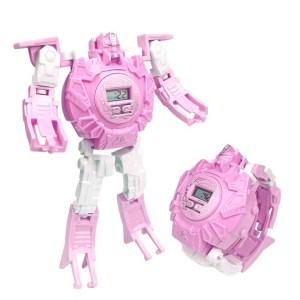 Transformador 2 En 1 Robot Reloj Digital Electrónic