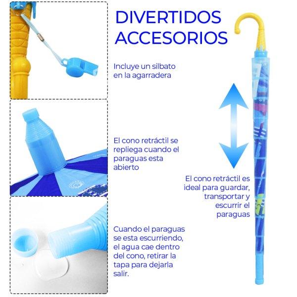 Sombrilla Para Niño Con Silbato Economica Diseño