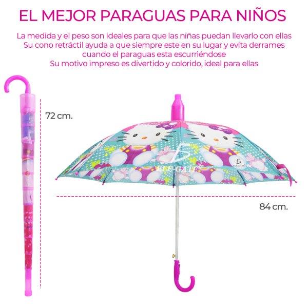 Sombrilla Paragua Niña Con Hello Gato Economica Diseño