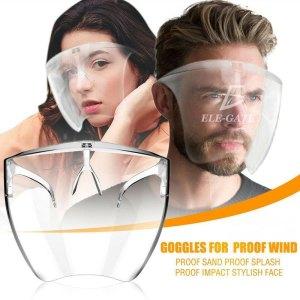 Mascarilla Careta Transparente Cubre Boca Ojos Nariz Protector Facial
