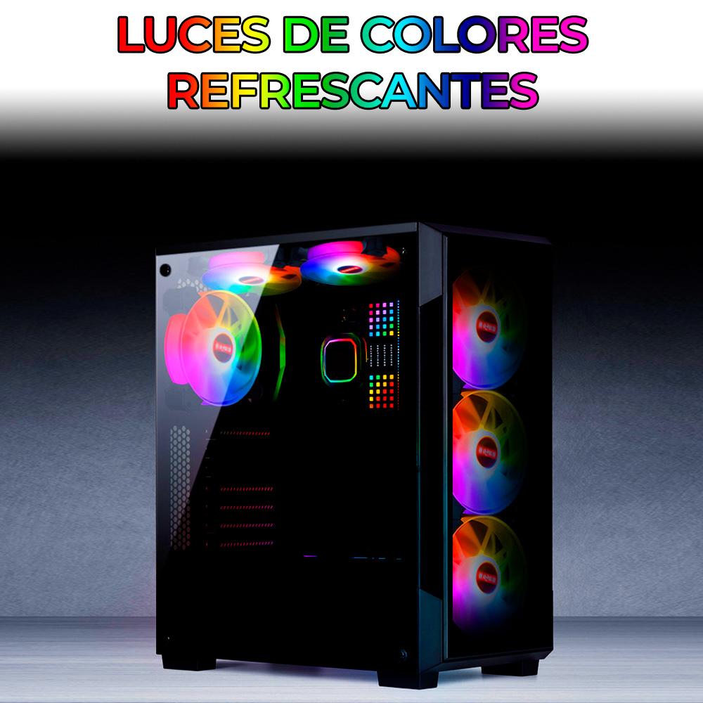 Ventilador Gamer Para Cpu Con Luz LED RGB