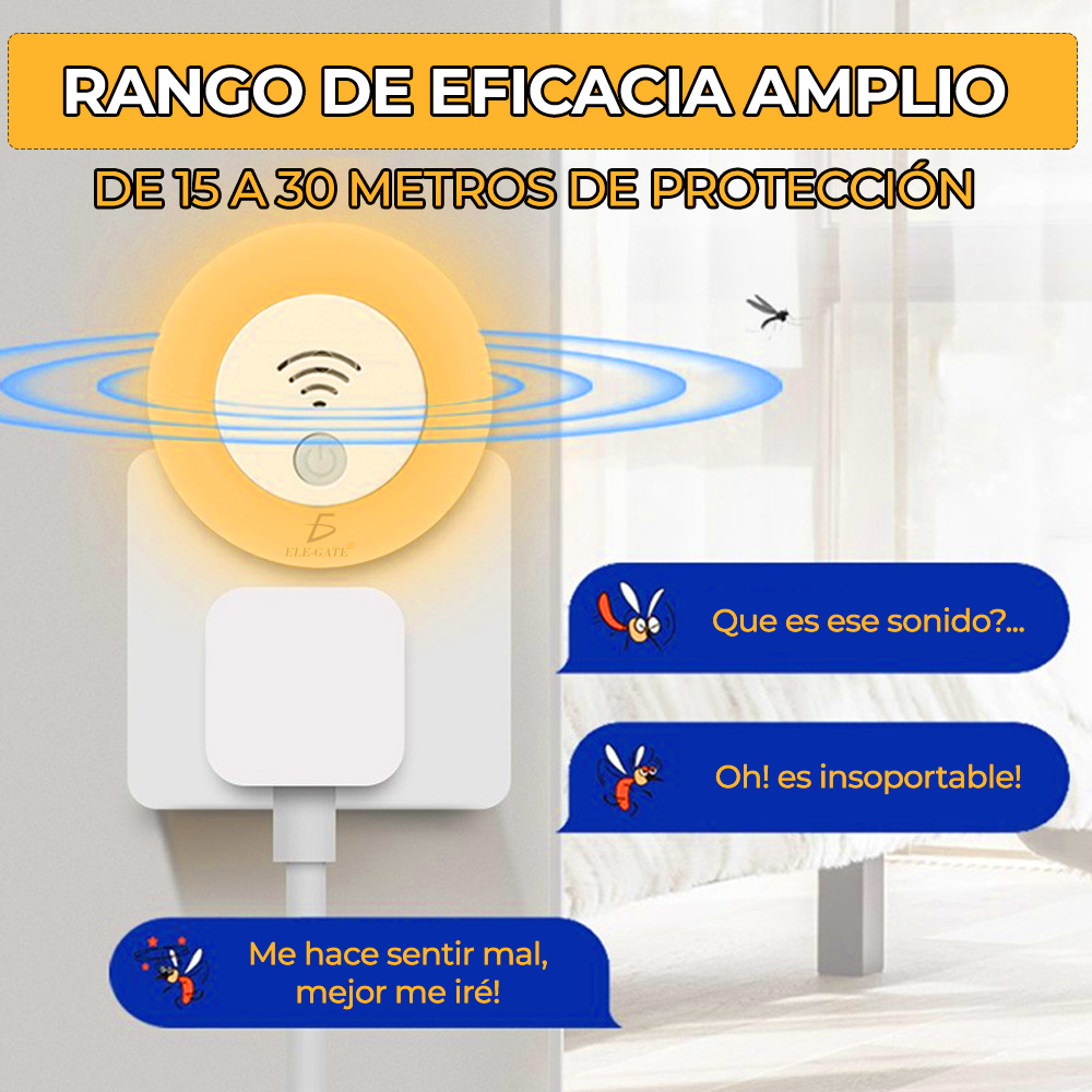 Lámpara LED Repelente de Mosquitos Ultrasónica