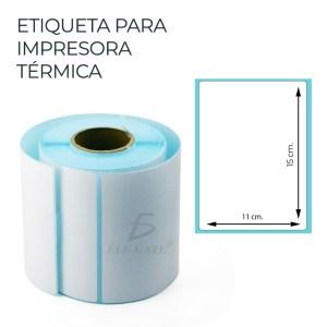 Paper de Etiqueta Termica 150mmx100mm 250PZAS