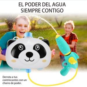 Pistola Con Tanque De Agua Mochila Para Niños Panda2