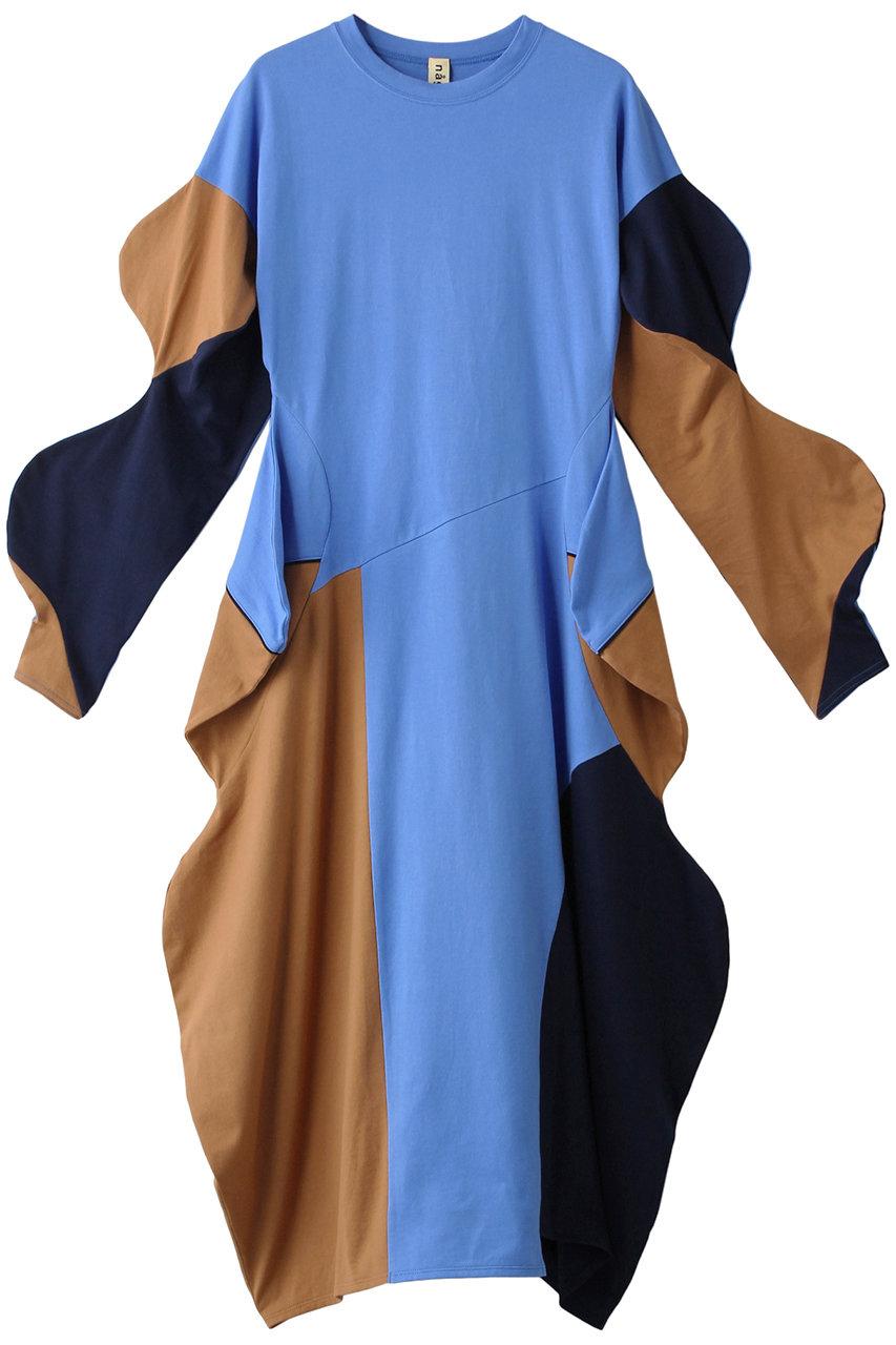 nagonstans ナゴンスタンス CO天竺 BUMP ドレス ブルー