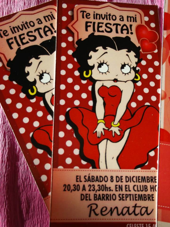 TEMATICA BETTY BOOP Sandra Flowers Decoration Mar Del