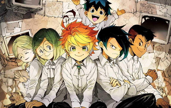 big poster anime the promised neverland lo02 90x60 cm