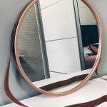 Espelho Redondo Adnet 60 Cm Cobre Decorativo Com Alca Couro No Elo7 The Beauty Home 11eff3e