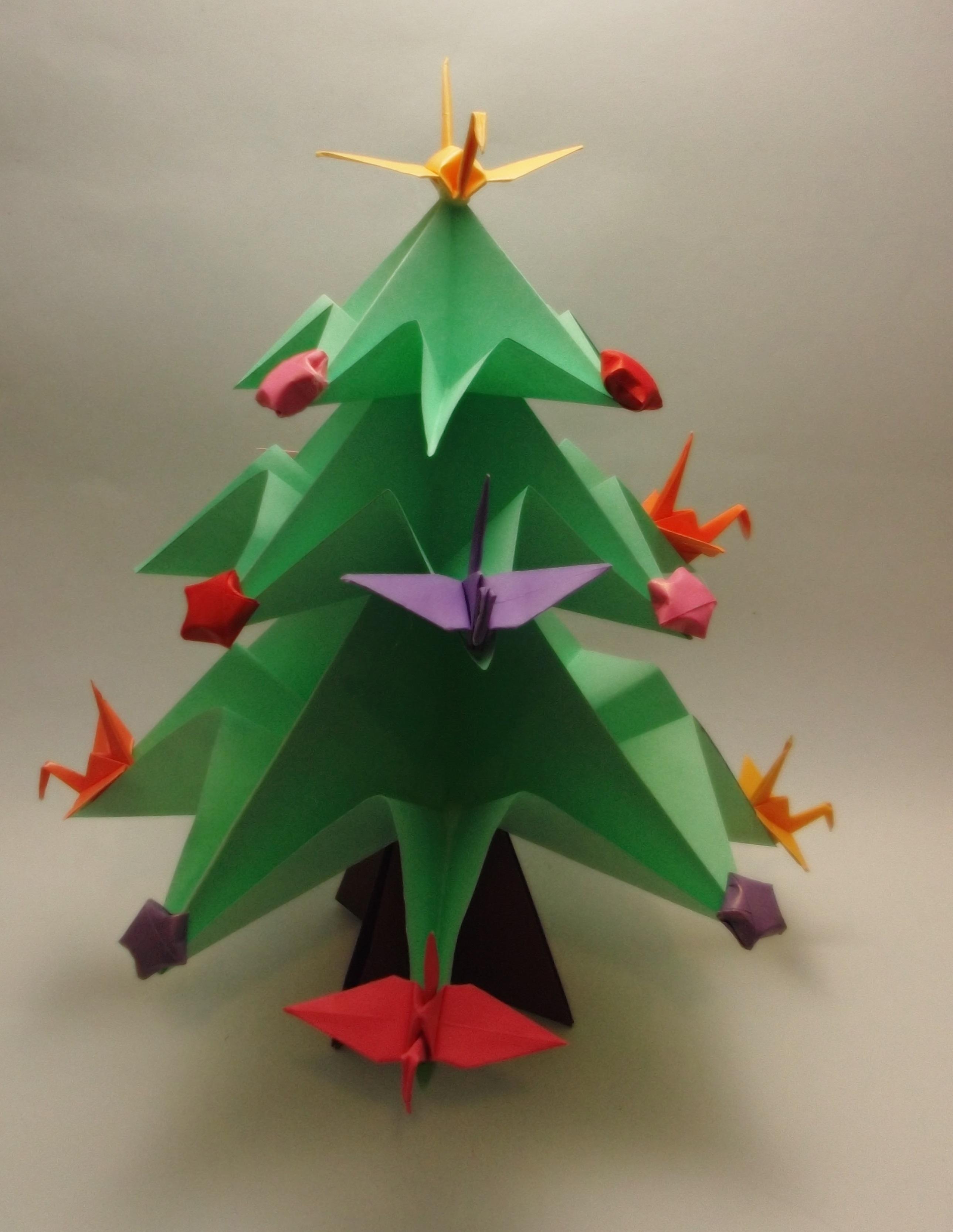 Rvore De Natal De Origami Art Omura Elo7