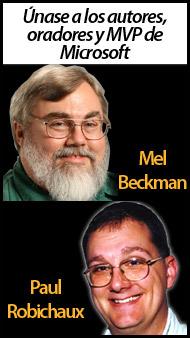 Únase a los autores,                                    oradores y MVP de Microsoft Mel                                    Beckman and Paul Robichaux