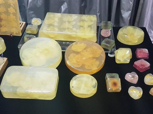 「天語生物科技」以「台灣蘭花藝術皂」聞名