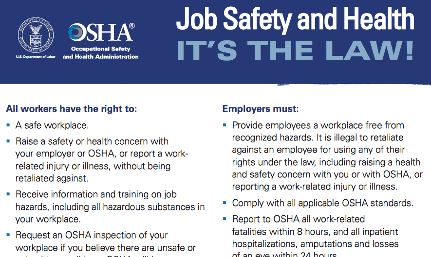 osha updates its required job safety