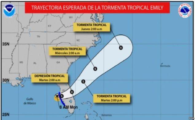 Resultado de imagen para tormenta hacia miami