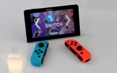 O Nintendo Switch, em exposição em Nova York