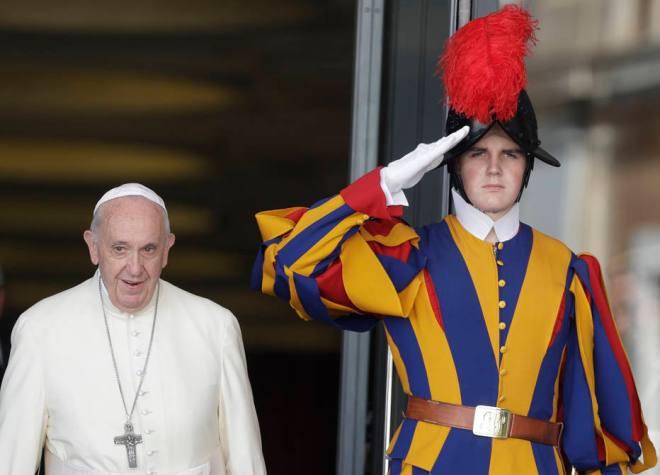 Papa Francisco após sessão do Sínodo da Amazônia