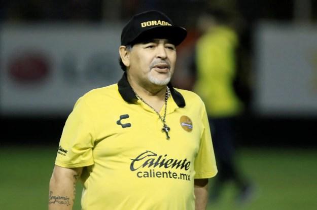 Maradona é técnico do Dorados de Sinaloa, do México
