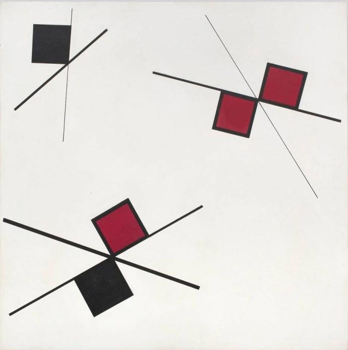 Têmpera (1954/56) de Lygia Pape: neoconcretismo na Galeria Almeida e Dale Foto: Semana de Arte