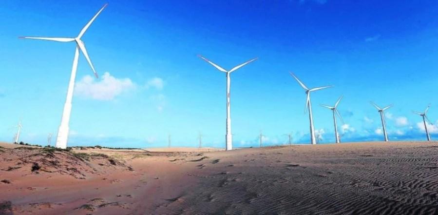 As pás eólicas mudaram o cenário da região de Icaraí de Amontoada, no Ceará