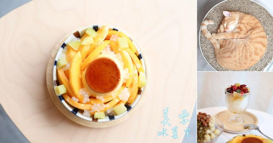 台南 慈幼高工附近剉冰店加冰加煉乳不加價,還有激萌店貓憨憨駐店 台南市東區|美雪冰菓室