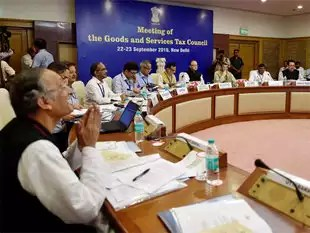 Union Finance Minister Arun Jaitley chairs the First Meeting of the GST Council in New Delhi on September 22, 2016.