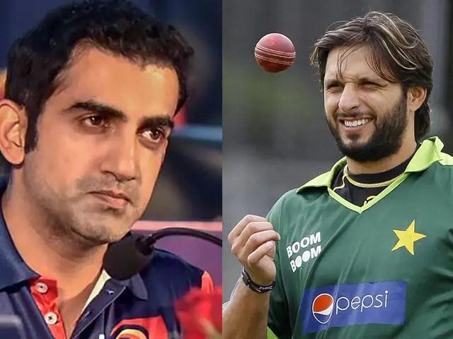 Afridi Calls Gambhir To Pakistan For Mental Treatment