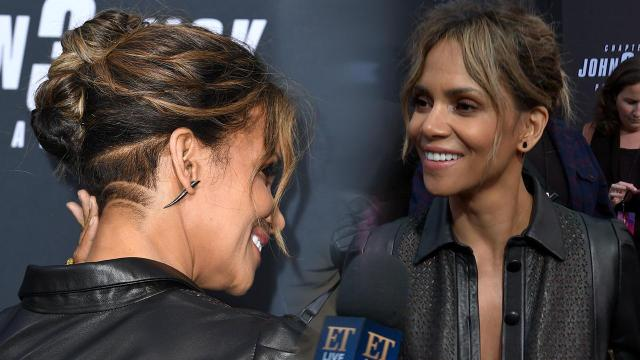 halle berry debuts buzzed hairstyle while talking about