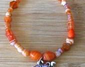 Orange Cat Charm Bracelet...
