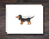 Weiner Dog Note Cards - C...