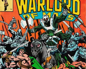Warlord comic books   Etsy John Carter  Warlord of Mars Vol  1 No  26   1979   Marvel Comics Comic Book