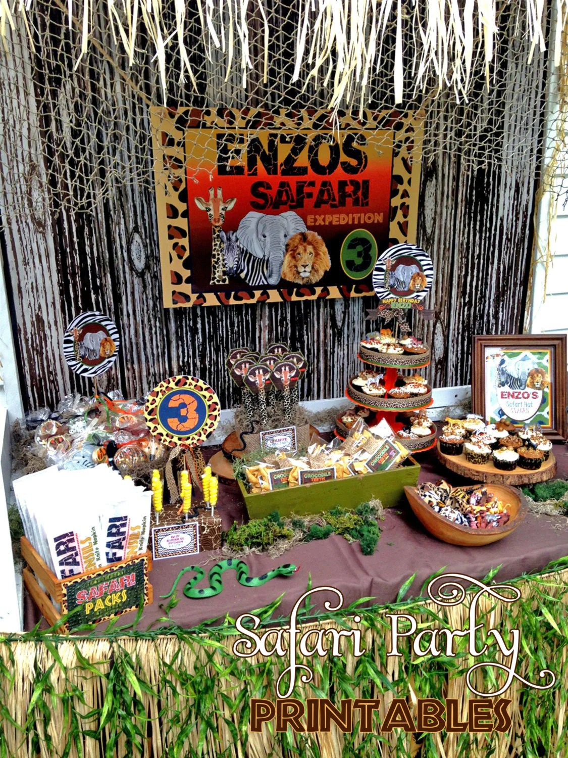 Printable Safari Party Diyafrican Safarisafari Party
