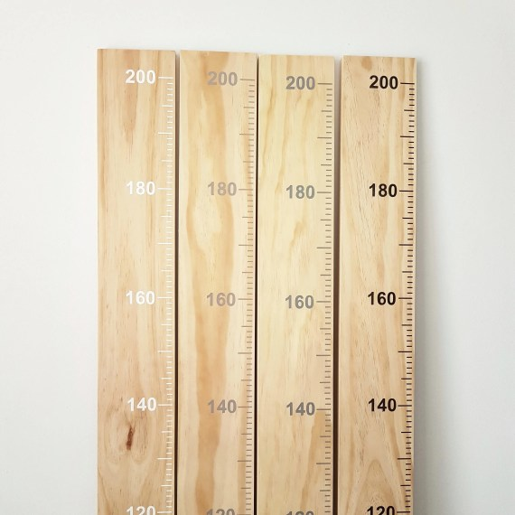 Timber Growth Chart Ruler metres