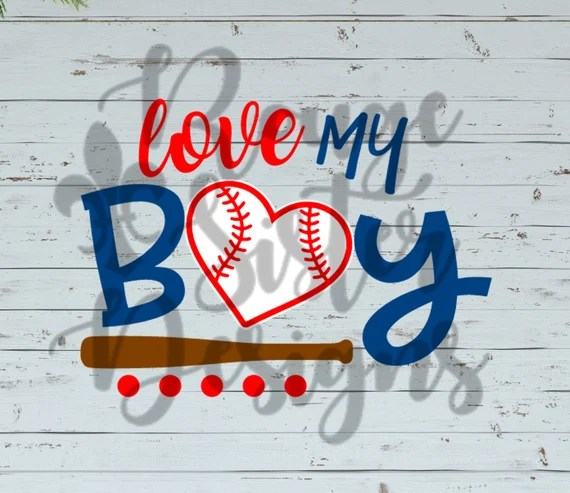 Download Love My Boys Mom Baseball T-Shirt Design SVG/PNG/JPEG