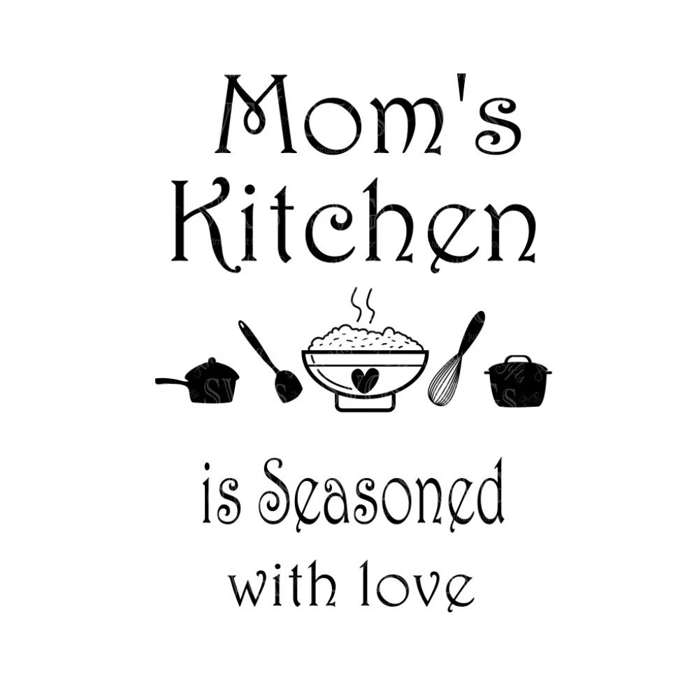 Download SVG Moms Kitchen is Seasoned with Love Wall Art Kitchen