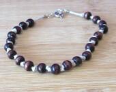 Wood Bead & Hemp Bracelet...
