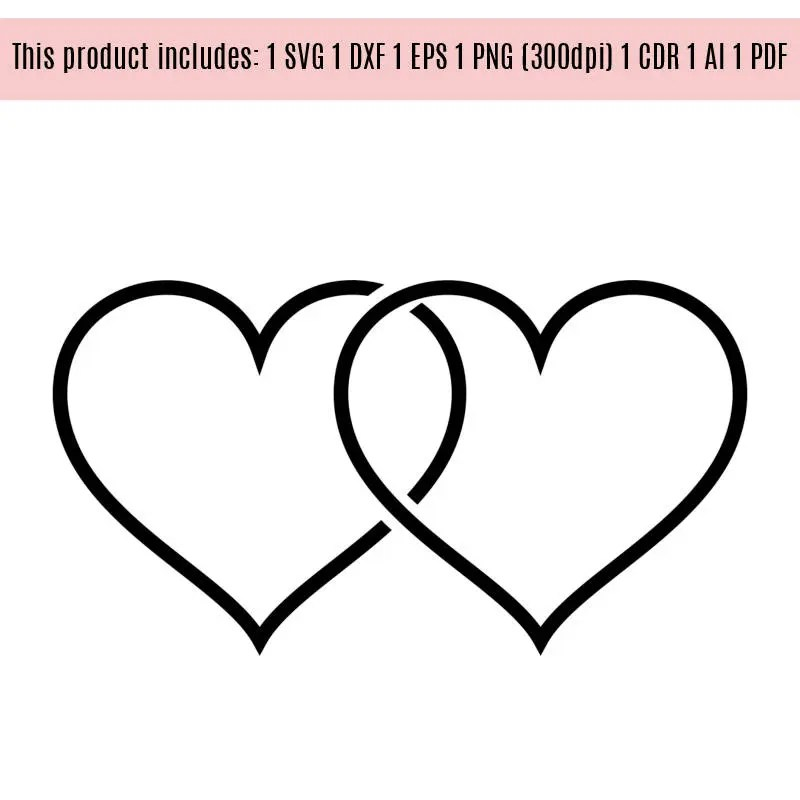 Download Hearts Love Wedding vinyl Graphics SVG Dxf EPS Png Cdr Ai Pdf
