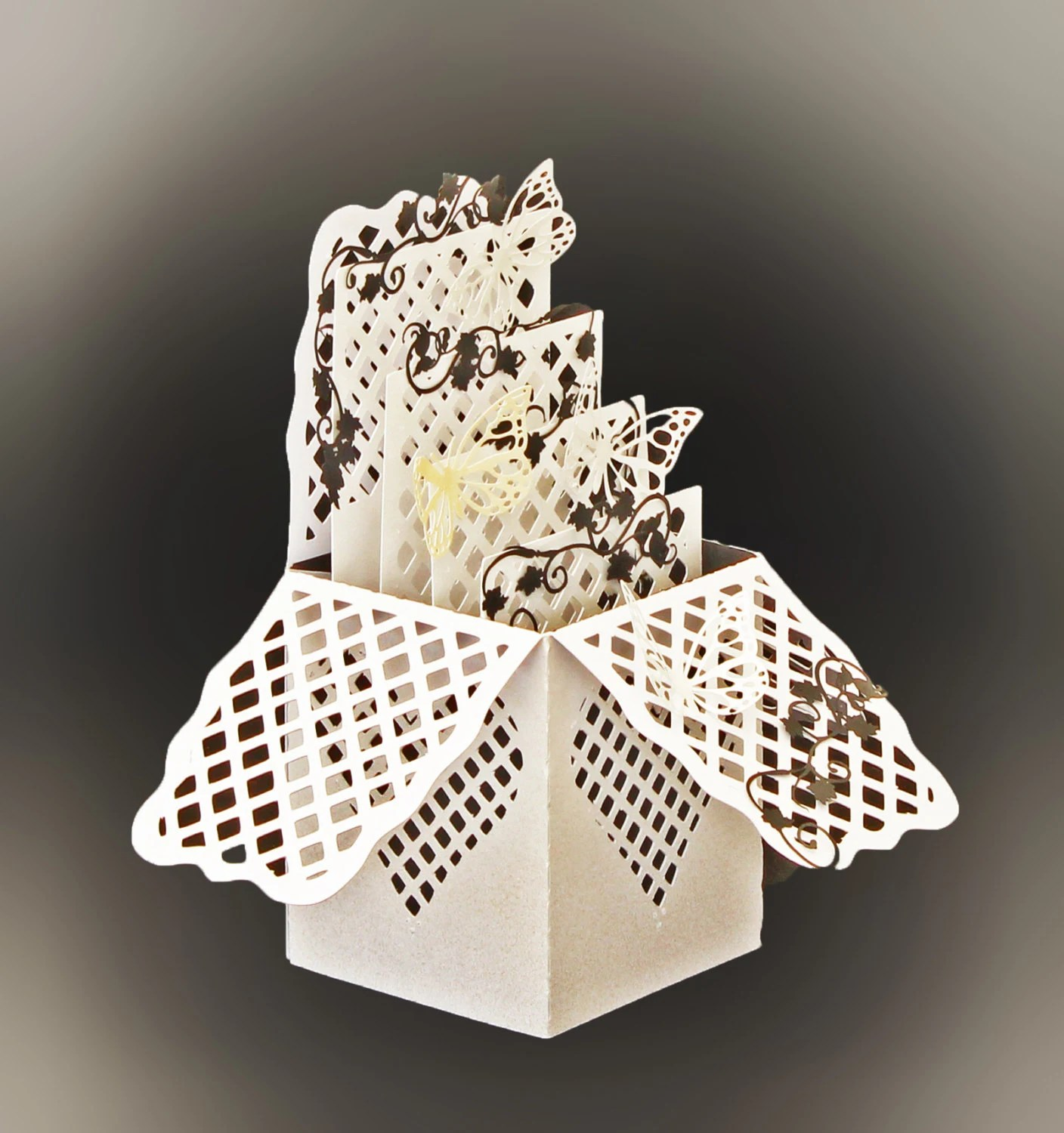 Heart Lattice Box Card DIGITAL Download Svg Scan N Cut Cricut