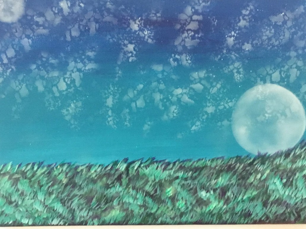 Acrylic Moon Painting wit...