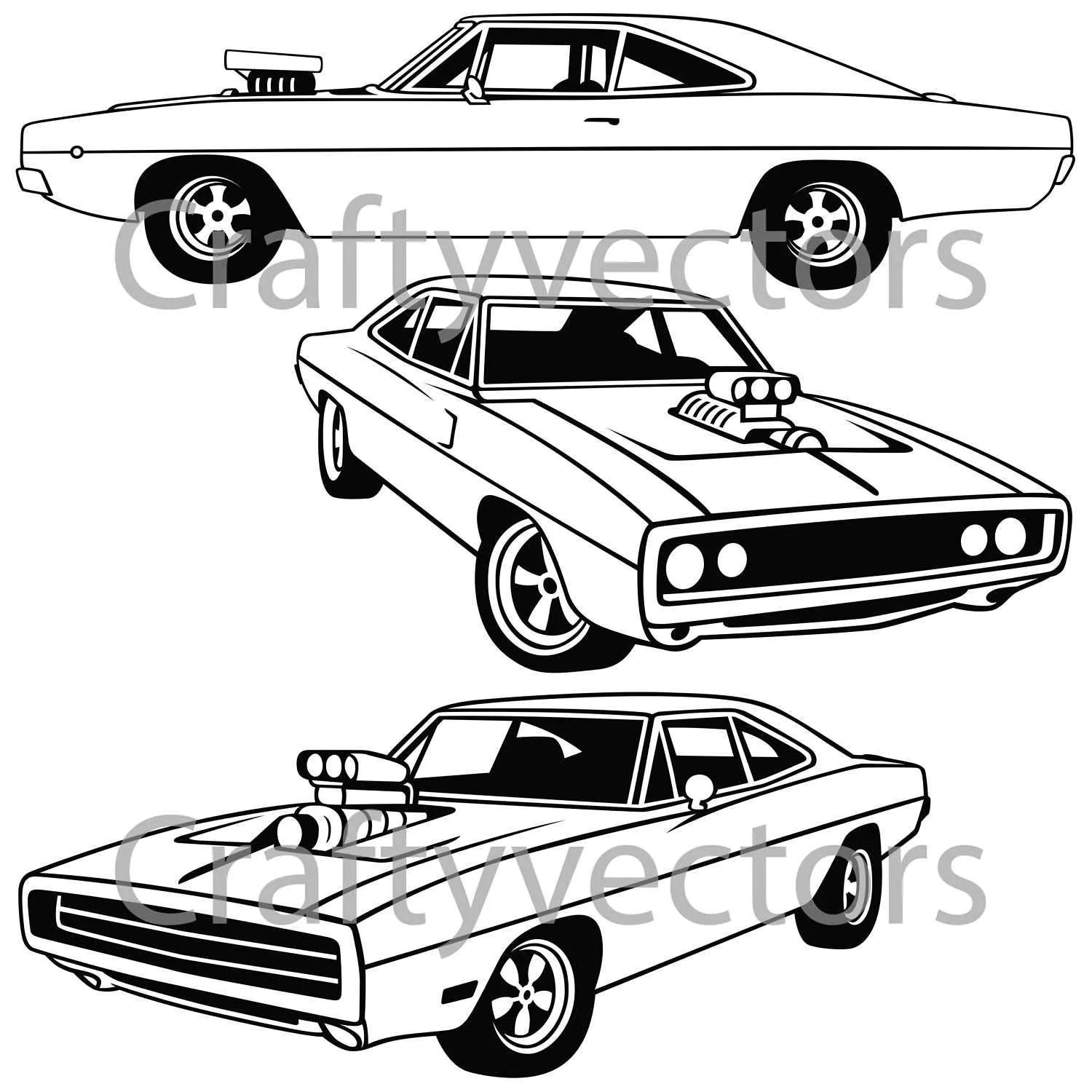 Dodge Charger Vector File