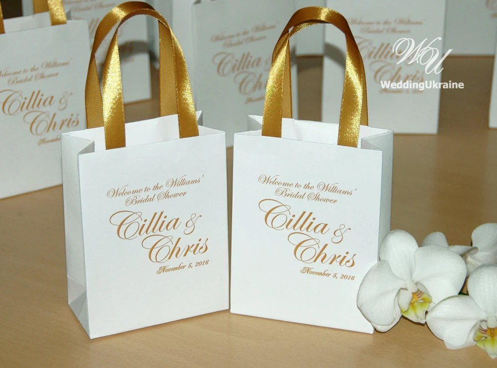 Elegant Gift Bags Bridal Party Gift Bag Personalized With