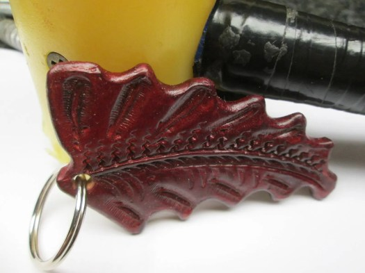 Custom keychain , tooled ...