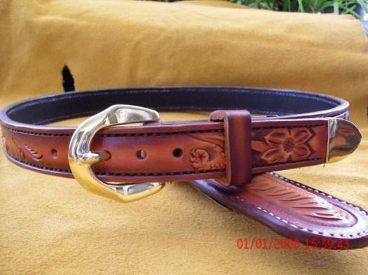Custom leather belt, West...